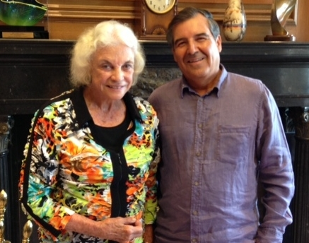 Dr. Ramon Resa and Retired Supreme Court Justice Sandra Day O'Connor  after private lunch in her office August 21st, 2013.